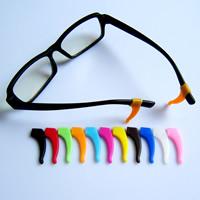 Силикон Очки ушной крючок, разноцветный, 14x35mm, отверстие:Приблизительно 6x2.5mm, 100ПК/сумка, продается сумка