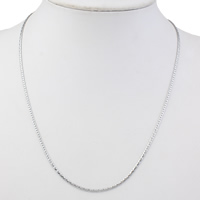 Stainless Steel Chain Necklace original color 1x2mm Sold Per Approx 17 Inch Strand