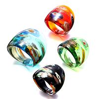 кольцо Лампворк, Лэмпворк, Женский & золотой песок, разноцветный, 24.50mm, размер:7, 4ПК/Лот, продается Лот