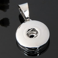 Snap Button Pendant, Zinc Alloy, platinum color plated, lead & cadmium free, 18mm, Hole:Approx 3-5mm, Inner Diameter:Approx 6mm, Sold By PC
