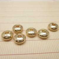 24K золото бисера, Латунь, Плоская круглая форма, Позолоченные 24k, разный размер для выбора, не содержит свинец и кадмий, отверстие:Приблизительно 1-2mm, 10ПК/сумка, продается сумка
