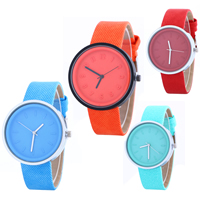 Women Wrist Watch, PU, with Glass & Zinc Alloy, plated, adjustable & for woman, more colors for choice, 22x5mm, Length:Approx 9.4 Inch, Sold By PC