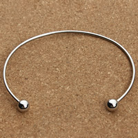 Stainless Steel Cuff Bangle original color 67mm Inner Diameter:Approx 60mm Length:Approx 7 Inch 2PCs/Bag