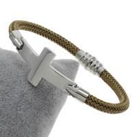 Пластиковые браслет, нержавеющая сталь, с пластик, Kресты, Женский, 54x20x2.50mm, длина:Приблизительно 7 дюймовый, 5пряди/сумка, продается сумка
