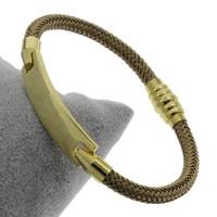 Пластиковые браслет, нержавеющая сталь, с пластик, плакирован золотом, Женский, 55x10x2.50mm, длина:Приблизительно 8 дюймовый, 5пряди/сумка, продается сумка