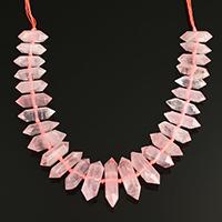 розовый кварц Ожерелье, с Нейлоновый шнурок, Маятник, натуральный, Женский, 8-18x26-46x8-18mm, Продан через Приблизительно 15 дюймовый Strand