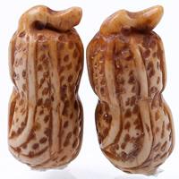 Wisiorek łapka naturalne, Bone wół, Orzechowe, kawowy, 34x14mm, otwór:około 1-2mm, sprzedane przez PC