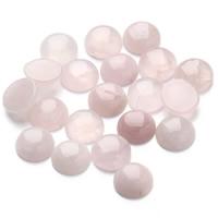 розовый кварц кабошон, Плоская круглая форма, плоской задней панелью, 12mm, 20ПК/сумка, продается сумка