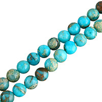 Impression Jasper Beads, Round, natural, different size for choice, blue, Hole:Approx 0.5-1mm, Length:Approx 16 Inch, Sold By Lot