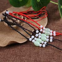 Шнуры для ожерелий, Нейлоновый шнурок, с Акрил, регулируемый, Много цветов для выбора, 3mm, длина:Приблизительно 16.5-24.5 дюймовый, 10пряди/сумка, продается сумка