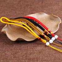 Шнуры для ожерелий, Нейлоновый шнурок, с Акрил, Много цветов для выбора, 4mm, длина:Приблизительно 6 дюймовый, 20пряди/сумка, продается сумка