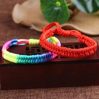 Нейлоновый шнуровой браслет, Нейлоновый шнурок, регулируемый, Много цветов для выбора, 4x9mm, длина:Приблизительно 6 дюймовый, 10пряди/сумка, продается сумка