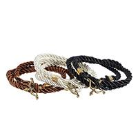 Нейлоновый шнуровой браслет, Нейлоновый шнурок, с цинковый сплав, Стрелка, Другое покрытие, 3-нить, Много цветов для выбора, не содержит никель, свинец, Продан через Приблизительно 22.8 дюймовый Strand