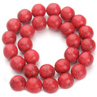 Turquoise Beads, Round, different size for choice, red, Hole:Approx 1.5mm, Sold Per Approx 15.5 Inch Strand