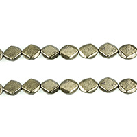 Golden Pyrite Beads, Flat Oval, natural, different size for choice & faceted, Hole:Approx 1mm, Length:Approx 15.5 Inch, Sold By Lot