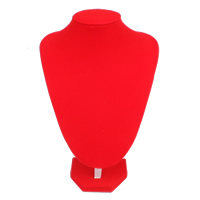 Velveteen Necklace Display with Cardboard red 200x240x130mm