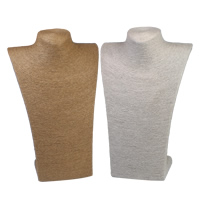 Linen Necklace Display, with Cardboard, more colors for choice, 230x370x145mm, Sold By PC