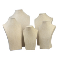 Linen Necklace Display, with Cardboard, different size for choice, khaki, Sold By PC