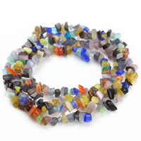 Cats Eye Jewelry Beads, Nuggets, mixed colors, 5-8mm, Hole:Approx 1.5mm, Approx 120PCs/Strand, Sold Per Approx 31 Inch Strand