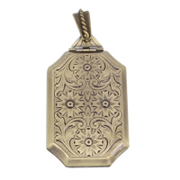 Brass Locket Pendants antique bronze color plated 26x42x7mm Hole:Approx 4x5mm Inner Diameter:Approx 17x30mm 10PCs/Bag