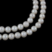 Potato Cultured Freshwater Pearl Beads, natural, white, Grade A, 10-11mm, Hole:Approx 0.8mm, Sold Per Approx 15 Inch Strand