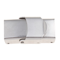 Watch Band Clasp, Stainless Steel, original color, 25x14x8mm, Hole:Approx 10x3mm, Sold By PC