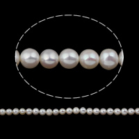 Clearance Freshwater Pearl Beads, Potato, natural, white, 7-8mm, Hole:Approx 0.8mm, Sold Per Approx 15 Inch Strand
