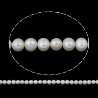 Clearance Freshwater Pearl Beads, Potato, natural, white, 8-9mm, Hole:Approx 0.8mm, Sold Per Approx 14.5 Inch Strand