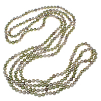 Clearance Fashion Necklace, Freshwater Pearl, Potato, 2-strand, 6-7mm, Sold Per Approx 78.5 Inch Strand