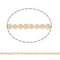 Clearance Freshwater Pearl Beads, Potato, natural, white, Grade A, 4-5mm, Hole:Approx 0.8mm, Sold Per Approx 15.5 Inch Strand