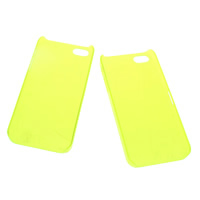 Plastic Mobile Phone Cover, Rectangle, for iPhone5/5s, fluorescent green, 60x124x9mm, Sold By PC