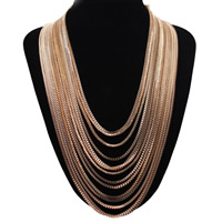 Multi Layer Necklace, Zinc Alloy, plated, box chain & for woman & multi-strand, nickel, lead & cadmium free, Sold Per Approx 20 Inch Strand