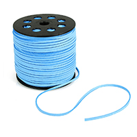 Velveteen Cord with plastic spool blue 2.5mm Approx 100Yard/Lot