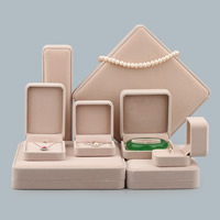 Velveteen Jewelry Set Box, with Glue Film, different styles for choice, 10PCs/Lot, Sold By Lot