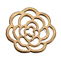 Ювелирные кабошоны из цинкового сплава, цинковый сплав, Форма цветка, плакированный цветом под старое золото, отверстие, не содержит никель, свинец, 22x22x1.50mm, 300ПК/Лот, продается Лот