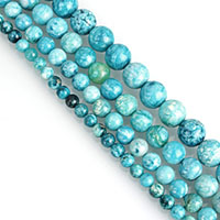 Dyed Jade Beads Round blue