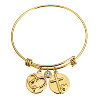 Stainless Steel Bangle gold color plated charm bracelet   for woman   with rhinestone 17x21x3mm 6x8x4mm 17x21x3mm 2mm Inner Diameter:Approx 62mm Length:Approx 8 Inch 10PCs/Lot