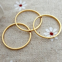 Zinc Alloy Linking Ring Brass Donut gold color plated nickel lead   cadmium free 19mm Hole:Approx 15mm 10PCs/Bag