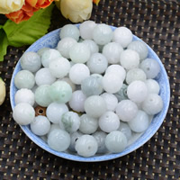 Natural Jadeite Beads, Round, 13mm, Hole:Approx 1mm, 10PCs/Lot, Sold By Lot