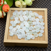 Natural Jadeite Beads, Flower, 11x2mm, Hole:Approx 1mm, 10PCs/Lot, Sold By Lot