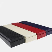 Leather Bracelet Boxes, PU, with Sponge & Cardboard, Rectangle, more colors for choice, 50x205x24mm, 50PCs/Lot, Sold By Lot