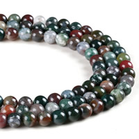 Natural Indian Agate Beads, Round, different size for choice, Hole:Approx 1mm, Sold Per Approx 15.5 Inch Strand