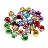 Koraliki Biżuteria akrylowe, Akryl, Koło, mieszane kolory, 10x10.5mm, otwór:około 4mm, 200komputery/torba, sprzedane przez torba