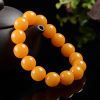 Unisex Bracelet, Beeswax, Round, natural, lead & cadmium free, 13.5mm, Length:Approx 6 Inch, 2Strands/Bag, Sold By Bag