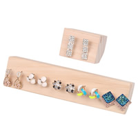 Wood Earring Stud Display Board, Pentagon, different size for choice, 60x60x47mm, 193x50x40mm, 10PCs/Lot, Sold By Lot