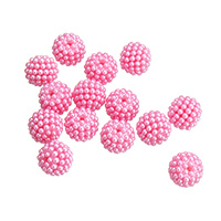 Plastic Beads bright rosy red 15mm Hole:Approx 1.5mm Approx 100PCs/Bag