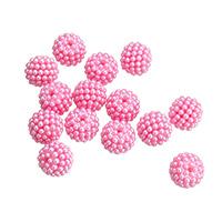 Бусины из пластика, пластик, ярко-розовые красный, 15mm, отверстие:Приблизительно 1.5mm, Приблизительно 100ПК/сумка, продается сумка