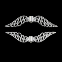 Wing Shaped Zinc Alloy Pendants, silver color plated, lead & cadmium free, 32x8x3mm, Hole:Approx 1mm, Approx 4000PCs/KG, Sold By KG