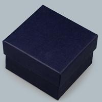 Kartonowe pudełko na bransoletkę, Tektura, ciemnoniebieski, 85x80x55mm, 10komputery/wiele, sprzedane przez wiele