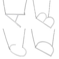 Roestvrij staal halskettingen, met 1.2 lnch extender keten, Brief, ovale keten & verschillende stijlen voor de keuze, oorspronkelijke kleur, 2mm, Per verkocht Ca 20.5 inch Strand